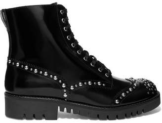 McQ Bess Studded Leather Ankle Boots - Black