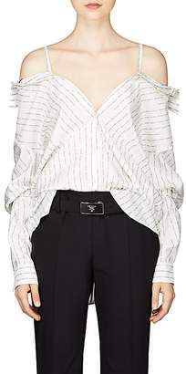 Prada Women's Convertible Logo Silk Blouse