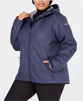 Columbia Plus Size Rainie Falls Waterproof Fleece-Lined Jacket