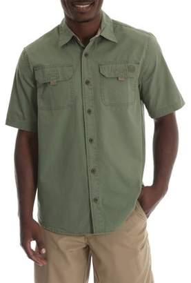 Wrangler Men's Short Sleeve Canvas Shirt