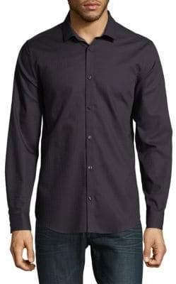 Calvin Klein Checkered Cotton Button-Down Shirt