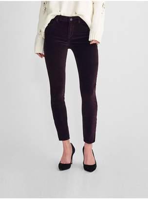 DL1961 Margaux Mid Rise Ankle Velvet Skinny | Dark Purple
