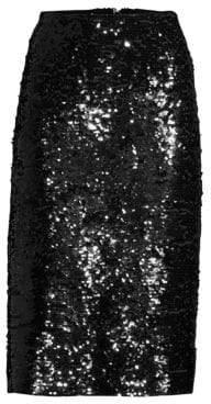 MICHAEL Michael Kors Sequin A-Line Skirt