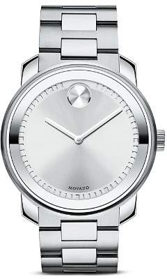 Movado BOLD Stainless Steel and Silver Tone Dial Watch, 42.5mm