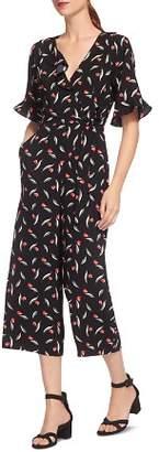 Whistles Alma Tulip-Print Wrap Jumpsuit