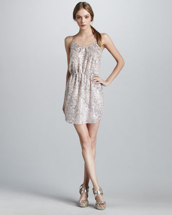 Rebecca Taylor Sequined Leopard-Print Dress