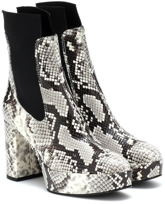 Acne Studios Embossed leather ankle boots