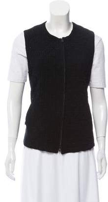 Ann Demeulemeester Quilted Zip-Up Vest