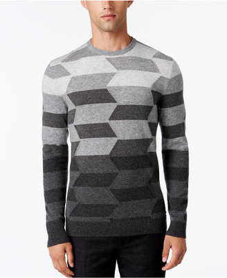 Alfani Collection Men's Ombré Chevron Sweater, Regular Fit, Only at Macy's $129 thestylecure.com