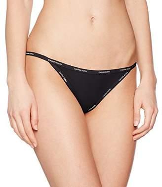 34fbcc41821 Calvin Klein Women s Bikini String Black 001
