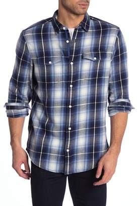WALLIN & BROS Flap Pocket Long Sleeve Plaid Shirt