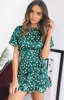 Beginning Boutique Holiday Night Dress Green Floral