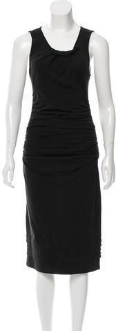 pradaPrada Ruched Midi Dress