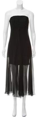 Karl Lagerfeld Silk Sleeveless Midi Dress