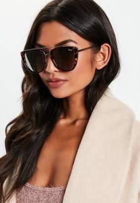 Missguided Quay Australia French Kiss Tortoiseshell Sunglasses