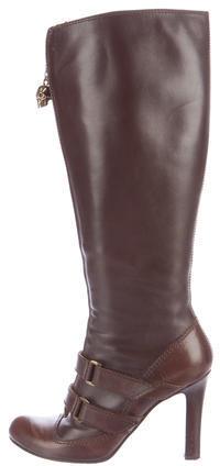 Alexander McQueenAlexander McQueen Leather Knee-High Boots