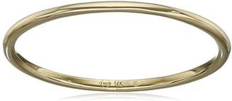 14k 1mm Plain Band Stackable Ring