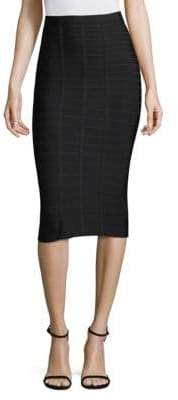 Herve Leger Below-the-Knee Skirt