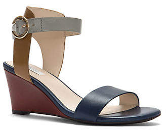 Cole Haan Rosalind Colourblock Leather Wedge Sandals