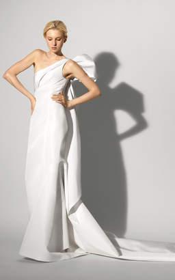 Carolina Herrera Bridal The Fernanda One Shoulder Silk Gown