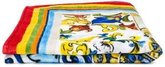 Dolce & Gabbana tiles print towel