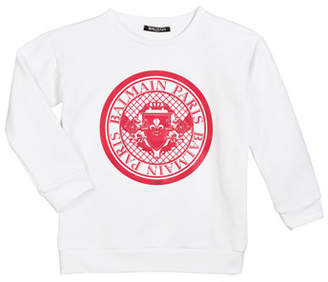 Balmain Cotton Logo Sweatshirt, Size 12-16