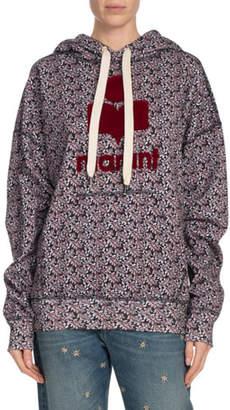 Etoile Isabel Marant Mansel Printed Logo Graphic Hoodie Sweatshirt
