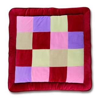 Baby Boum 'Polka Rose' Range Ex-Large, Super Soft & Thick Padded Play Mat (Cherry Red, 1m x 1m)