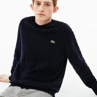 Lacoste Men's LIVE Crew Neck Cotton And Cashmere Jacquard Sweater