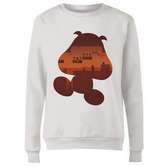 Nintendo Super Mario Goomba Silhouette Women's Sweatshirt