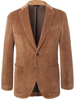 Altea Tan Slim-Fit Unstructured Cotton-Corduroy Blazer