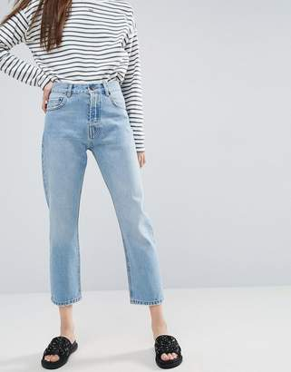 Asos DESIGN Florence authentic straight leg jeans in cambridge light mid wash