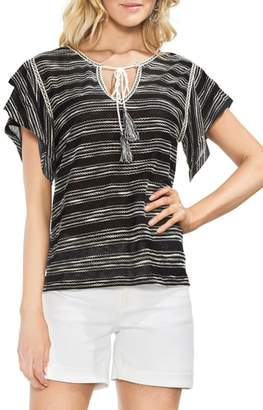Vince Camuto Tiered Sleeve Striped Top