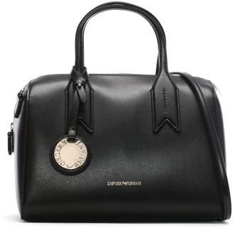 079089d64d78 at Daniel Footwear · Emporio Armani Frida Black Textured Top Handle Bowling  Bag