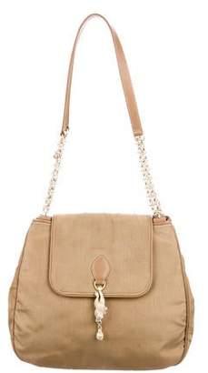 Kieselstein-Cord Leather-Trimmed Shoulder Bag