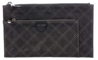 Marc Jacobs Quilted Leather Zip Pouch