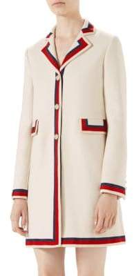Gucci Ribbon-Detail Car Coat