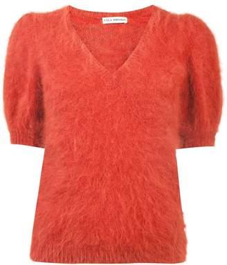 Ulla Johnson puff sleeve V-neck sweater