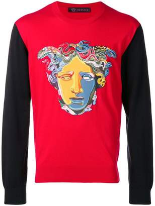 Versace embroidered Medusa jumper