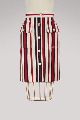 Gucci Striped denim skirt