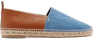 Loewe Denim And Leather Espadrilles - Blue