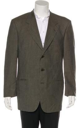 Valentino Houndstooth Virgin Wool Blazer