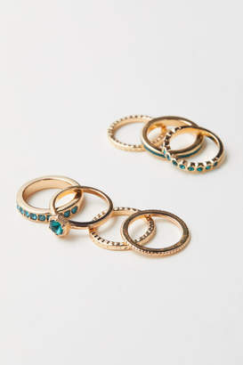 H&M 7-pack Rings - Green