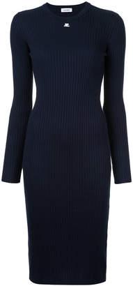 Courreges open wrist long sleeve dress