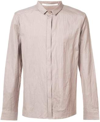 Individual Sentiments creased button down shirt