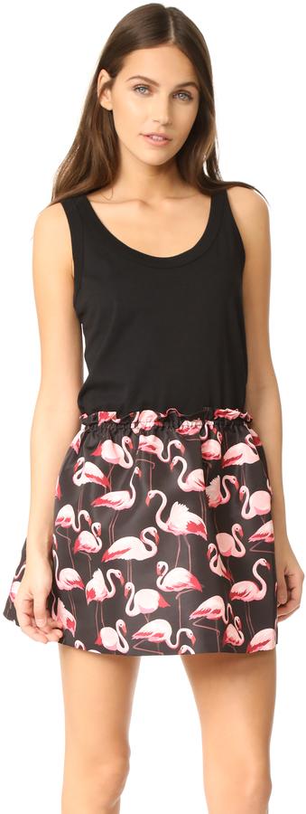 RED ValentinoRED Valentino Flamingo Printed Dress