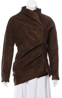 Lanvin Suede Zip-Up Jacket
