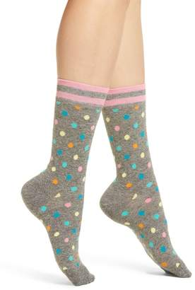 Happy Socks Dot & Stripe Crew Socks