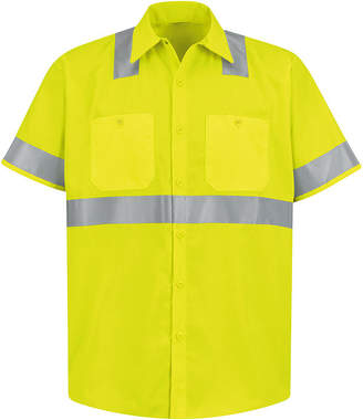 JCPenney Red Kap Short-Sleeve High-Visibility Shirt - Big & Tall