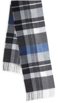 Exploded Plaid Cashmere Scarf